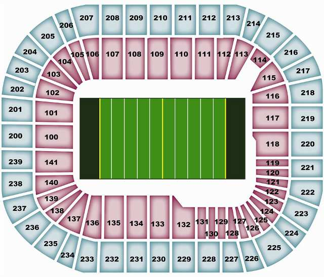 Minnesota Vikings Seating Chart for Hubert H Humphrey Metrodome